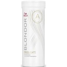 Pudra alba decoloranta pentru tehnicile freehand (balayage) - White Lighetning Powder - Freelights - Blondor - 400 g