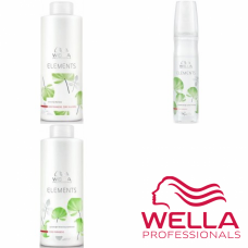Kit mare revitalizant pentru par fara sulfati, parabeni si coloranti - Care Elements - Wella Professionals - 3 produse cu 35% discount