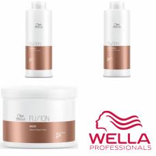 Kit mare reparator pentru par degradat - Care Fusion - Wella Professionals - 3 produse cu 28.91% discount