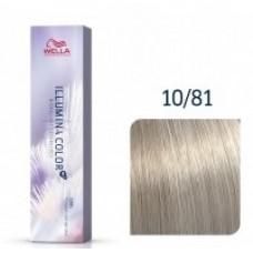Vopsea profesionala permanenta - 10/81 - Illumina Color - Wella Professionals - 60 ml