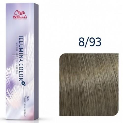 Vopsea Profesionala Permanenta - 8/93 - Illumina Color - Wella Professionals - 60 Ml