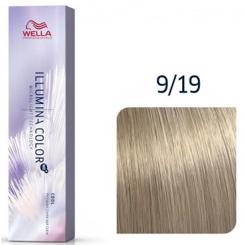 Vopsea Profesionala Permanenta - 9/19 - Illumina Color - Wella Professionals - 60 Ml