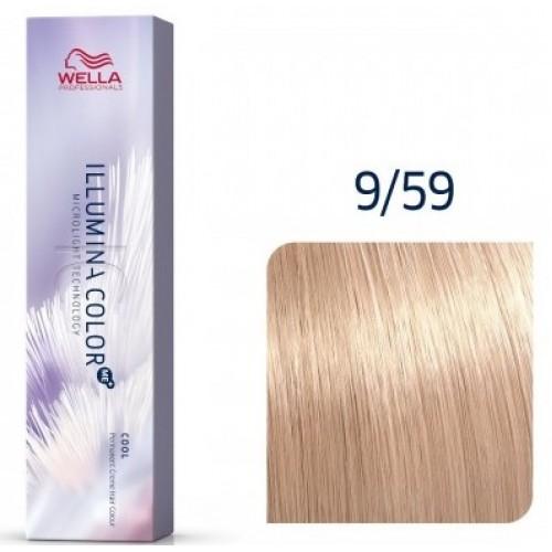 Vopsea Profesionala Permanenta - 9/59 - Illumina Color - Wella Professionals - 60 Ml