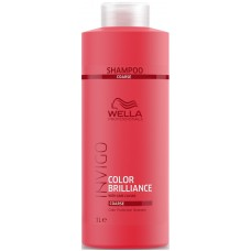 Sampon pentru par gros si vopsit - Color Protection Shampoo - Coarse - Invigo Brilliance - Wella - 1000 ml