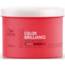 Masca-tratament pentru parul gros vopsit - Vibrant Color Mask - Coarse - Invigo Brilliance - Wella - 500 ml