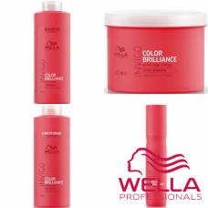 Kit mare pentru par fin/normal vospit - Invigo Color Brilliance - Fine/Normal - Wella Professionals - 4 produse cu 31.2% discount