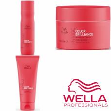 Kit mic pentru par fin/normal vopsit - Invigo Color Brilliance - Fine/Normal - Wella Professionals - 3 produse cu 27.66% discount