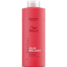 Sampon pentru par fin si vopsit - Color Protection Shampoo - Fine - Invigo Brilliance - Wella - 1000 ml