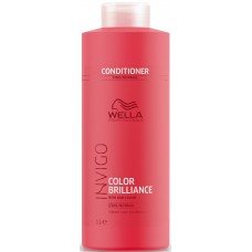 Balsam pentru parul fin/normal vopsit - Vibrant Color Conditioner - Fine - Invigo Brilliance - Wella - 1000 ml