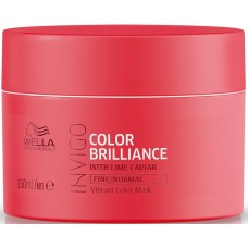 Masca-tratament pentru parul fin vopsit - Vibrant Color Mask - Fine - Invigo Brilliance - Wella - 150 ml