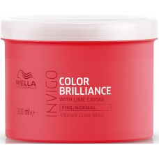 Masca-tratament pentru parul fin vopsit - Vibrant Color Mask - Fine - Invigo Brilliance - Wella - 500 ml