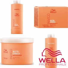Kit mare hidratant pentru par uscat si deteriorat - Invigo Nutri-Enrich - Wella Professionals - 4 produse cu 35% discount