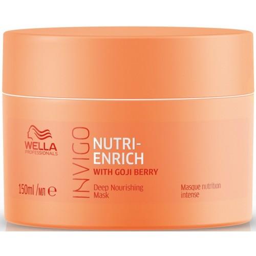 Masca-tratament Hidratant Pentru Par Deteriorat - Mask - Invigo Nutri Enrich - Wella - 150 Ml