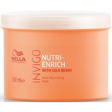 Masca-tratament hidratant pentru par deteriorat - Mask - Invigo Nutri Enrich - Wella - 500 ml