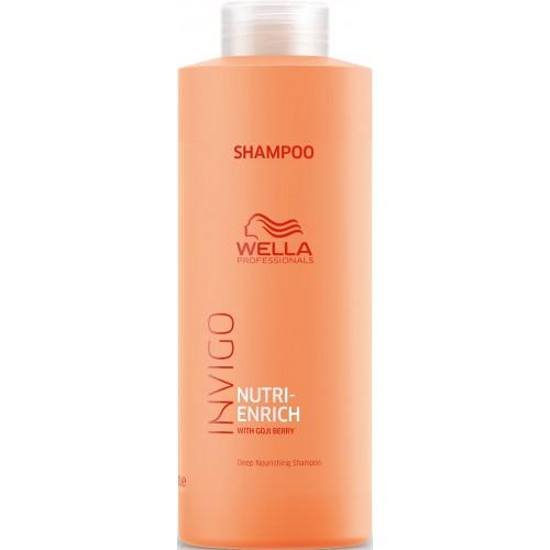Sampon Hidratant Pentru Par Deteriorat - Shampoo - Invigo Nutri Enrich - Wella - 1000 Ml