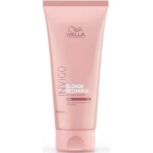 Balsam Pigmentat Pentru Par Blond Cu Reflexii Reci - Cool Blond Conditioner - Invigo Recharge - Wella - 200 Ml
