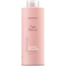 Sampon pigmentat pentru par blond cu reflexii reci - Cool Blond Shampoo - Invigo Recharge - Wella - 1000 ml