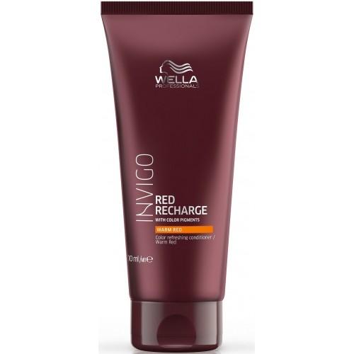 Balsam Pigmentat Pentru Par Roscat Cu Reflexii Calde - Warm Red Conditioner - Invigo Recharge - Wella - 200 Ml