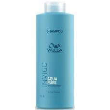 Sampon impotriva excesului de sebum - Purifying Shampoo - Invigo Aqua Pure - Wella - 1000 ml