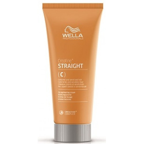 Crema Permanent Pentru Indreptarea Parului Colorat /sensibil - Straight C/s - Perm - Wella - 200 Ml