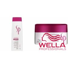 Kit mic protectiv pentru par vopsit - System Professional - Color Save - Wella Professionals - 2 produse cu 35% discount