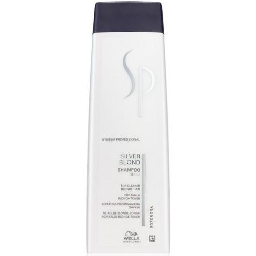 Sampon Pentru Accentuarea Si Improspatarea Nuantelor De Blond Rece - Shampoo - Silver Blonde - Sp - Wella - 250 Ml