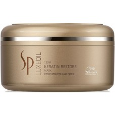 Tratament-masca reconstructiv cu cheratina - Mask - Keratin Restore - Luxeoil - SP - Wella - 150 ml