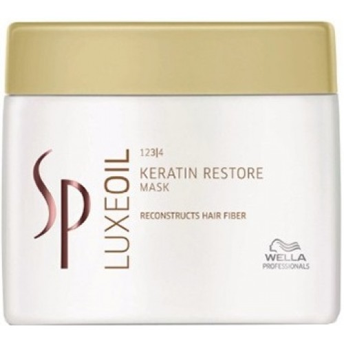 Tratament-masca Reconstructiv Cu Cheratina - Mask - Keratin Restore - Luxeoil - Sp - Wella - 400 Ml