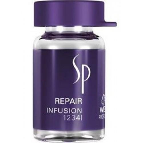 Tratament Reparator Pentru Par Degradat - Infusion - Sp Repair - Wella - 6x5 Ml