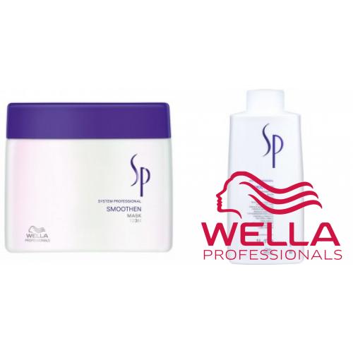 Kit Mare Pentru Netezirea Parului Rebel - System Professional - Smoothen - Wella Professionals - 2 Produse Cu 45% Discount